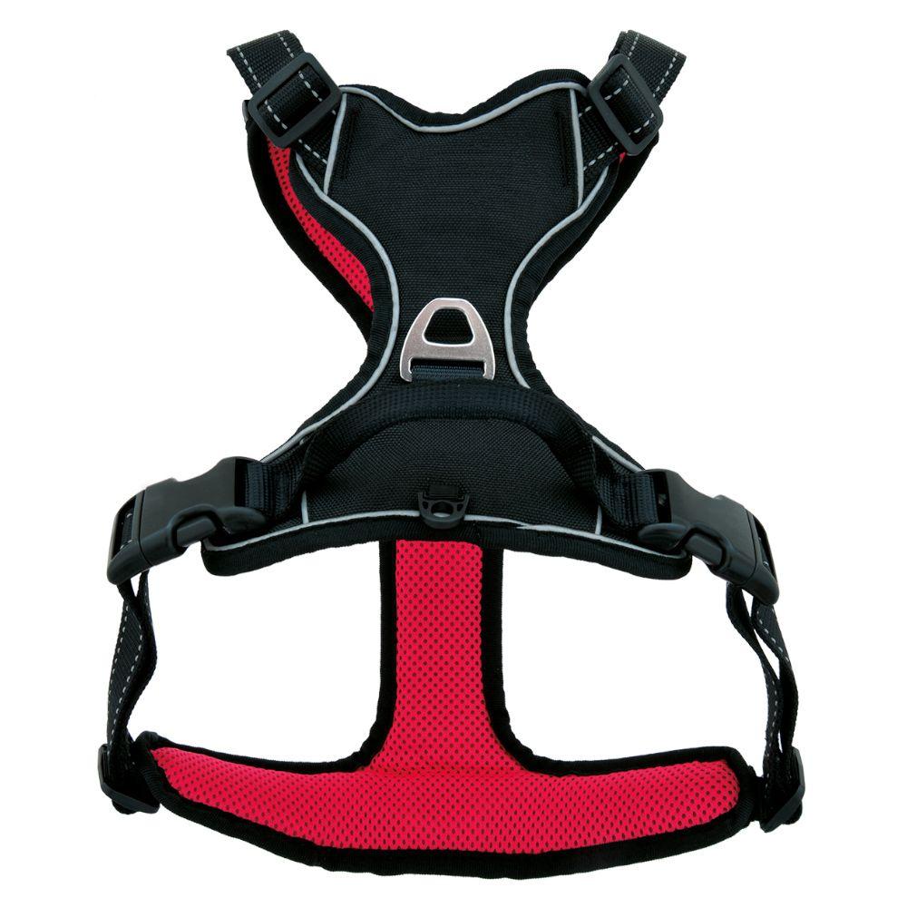 Pawz & Pepper Strong -koiranvaljaat - punainen/musta - L-koko: rinnanympärys 68 - 82 cm