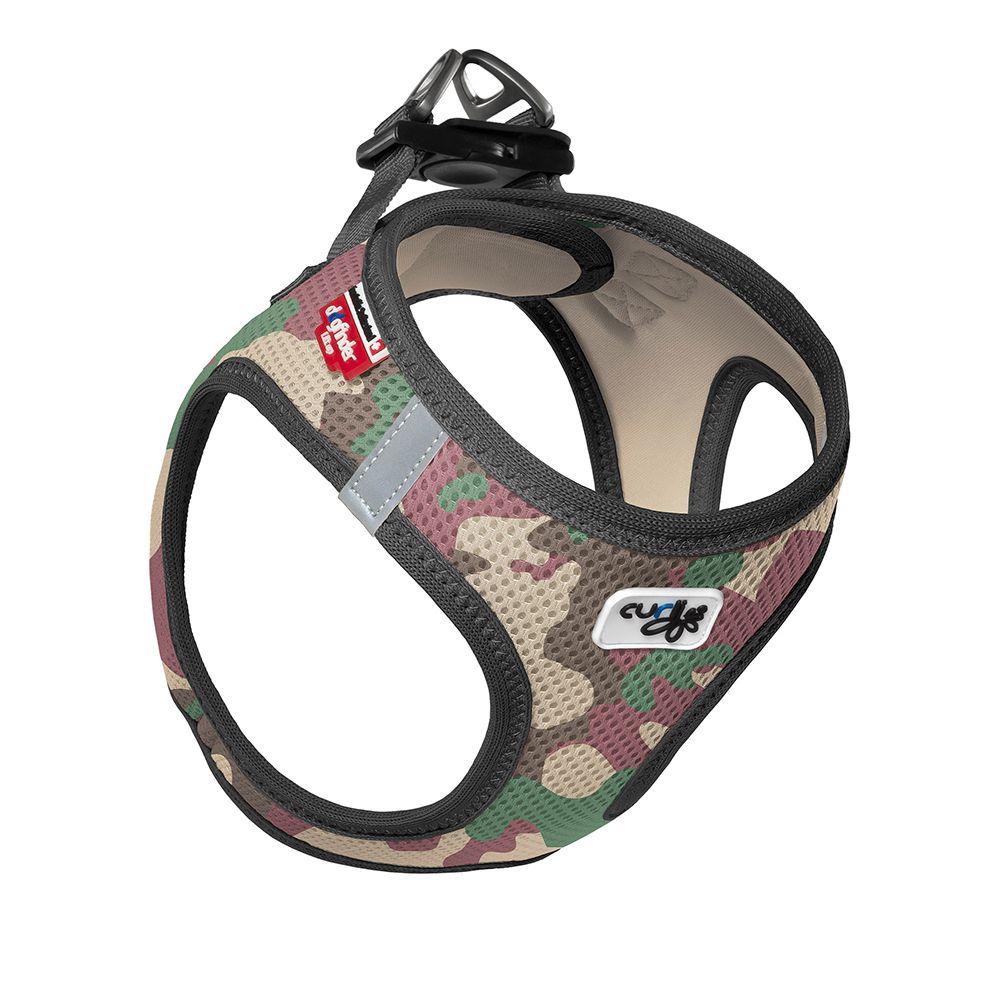 Curli Vest Geschirr Air-Mesh - camo - Größe 2XS: Brustumfang 30 - 35 cm