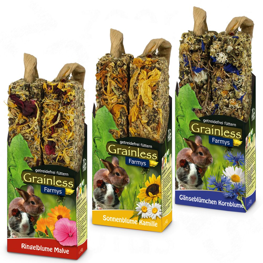 Jr Farm Farmy's Grainless Mixed Pack - 3 x 2 Sticks (3 flavours each 140g)