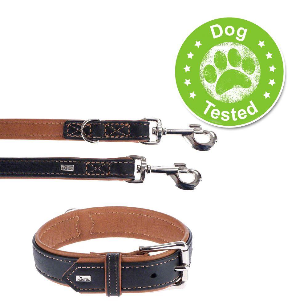 Image of Set collare e guinzaglio - Hunter Canadian - Collare Tg. 55 + guinzaglio 200 cm x 2 cm