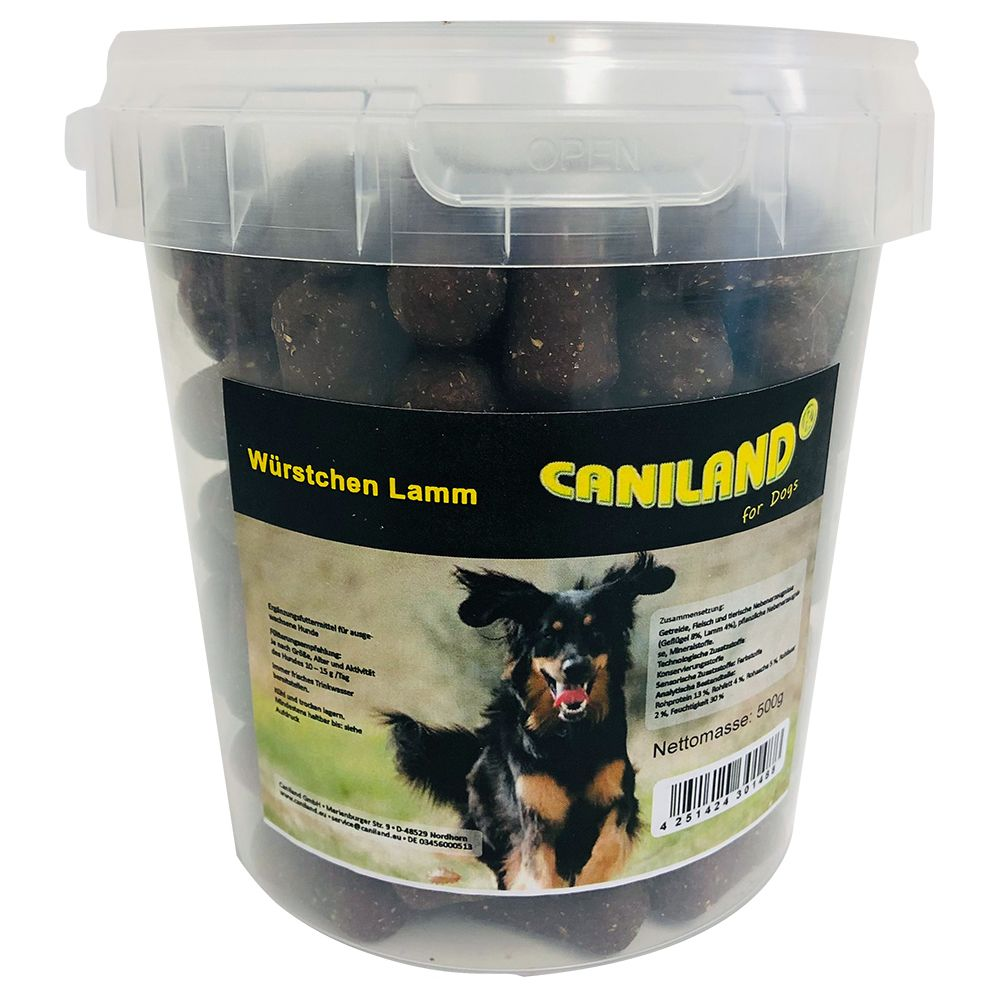Image of Caniland Salamini di Agnello con aroma affumicato Snack per cani - Set %: 6 x 500 g