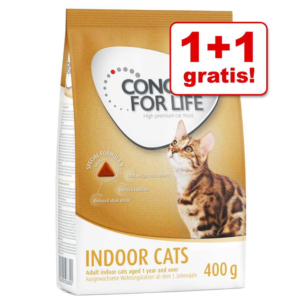 1 + 1 gratis! 2 x 400 g Concept for Life Katzentrockenfutter - Sterilised Cats