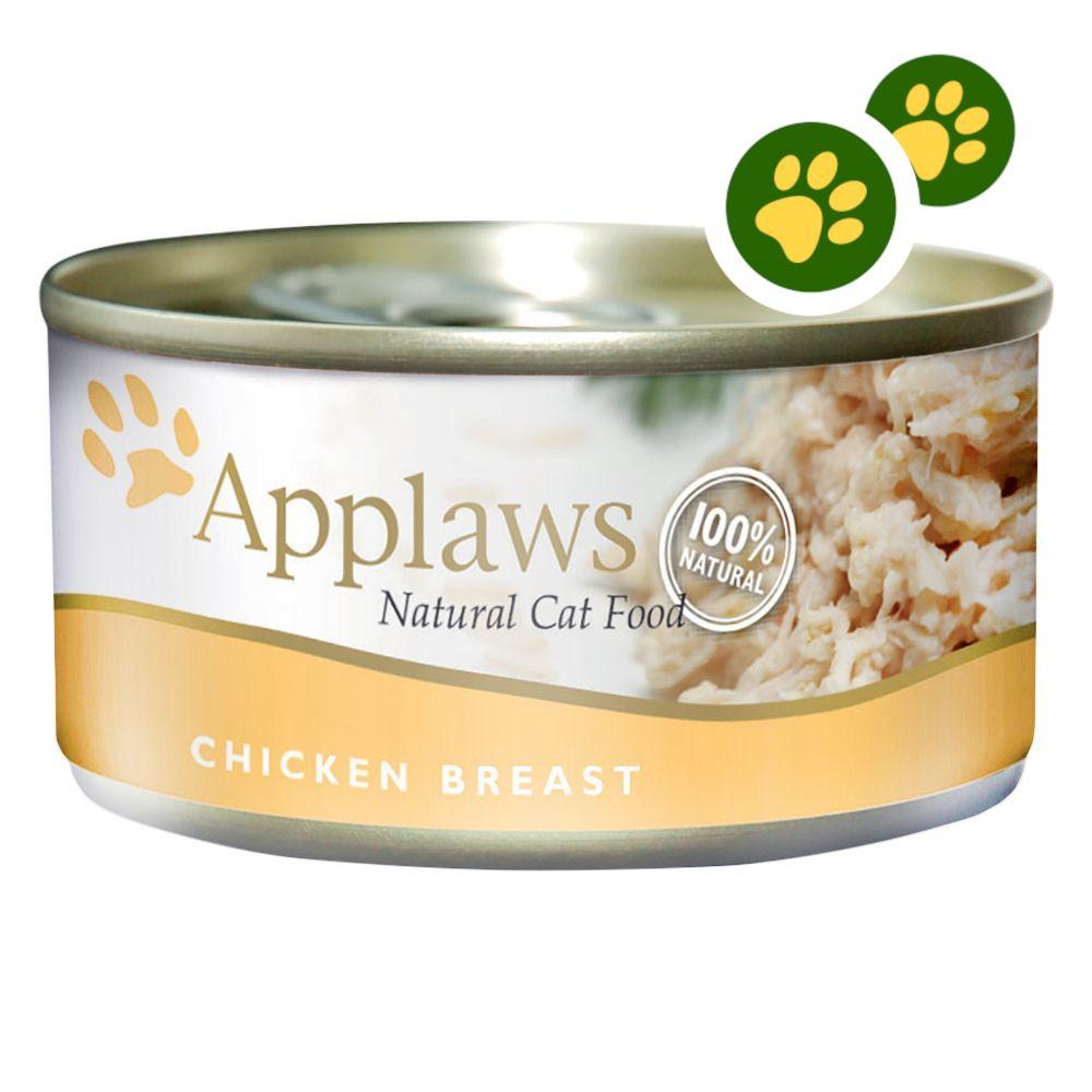 Boîtes Applaws pour chat : zooPoints x 5 ! - maquereau, sardine en bouillon (6 x 70 g)