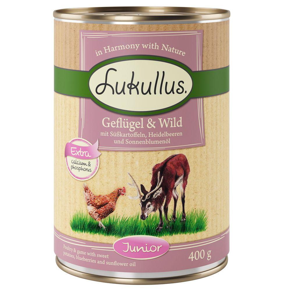 Poultry & Game Junior Lukullus Wet Dog Food