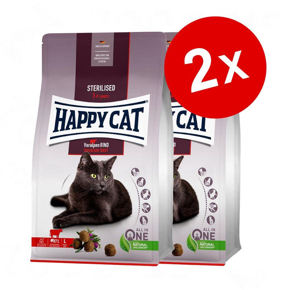 Lot Happy Cat pour chat 2 x 10 / 4 / 1,3 kg - Sensitive Santé rénale (2 x 4 kg)