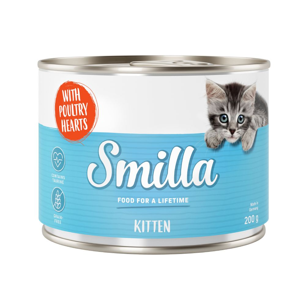 Smilla Kitten 6 x 200 g - Blandpack: Kyckling & kalvkött