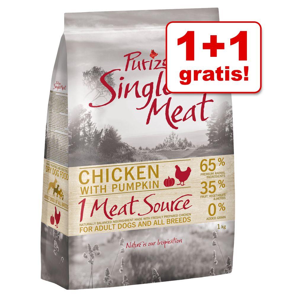 1 + 1 kg gratis! Purizon Single Meat, 2 kg - Pakiet mieszany