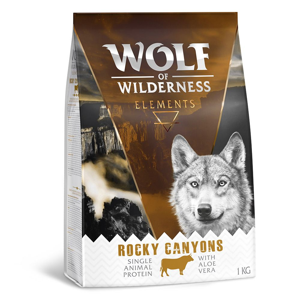 Lamb Duck Beef Fish Mixed Pack Wolf of Wilderness Elements Dry Dog Food