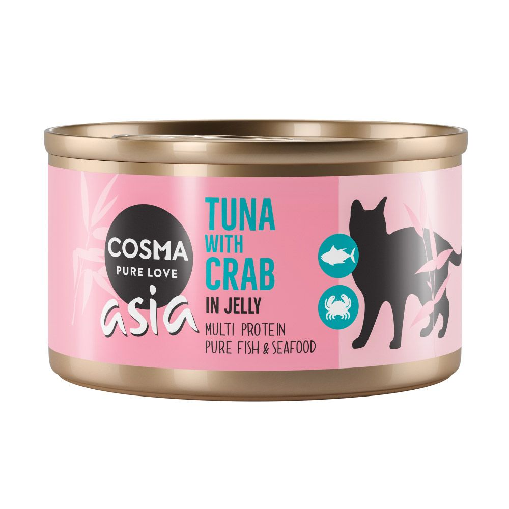 Tuna with Crab Meat in Jelly Cosma Thai Wet Cat Food
