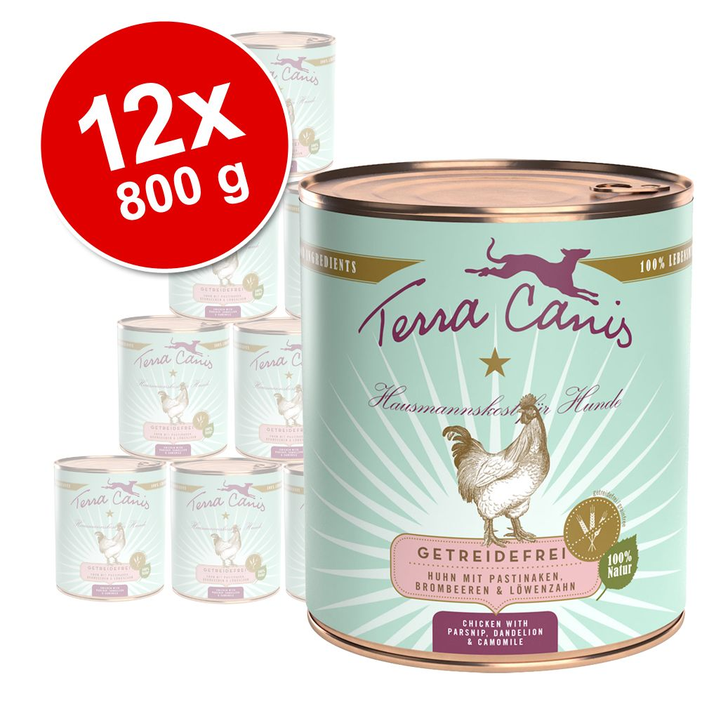 Pack Ahorro: Terra Canis Menú sin cereales 12 x 800 g - Pack mixto de ave