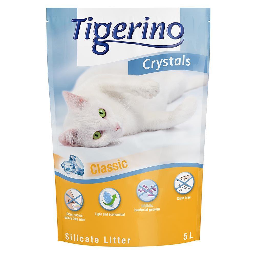 Tigerino Crystals Classic kattsand med silikat - Ekonomipack: 3 x 5 l