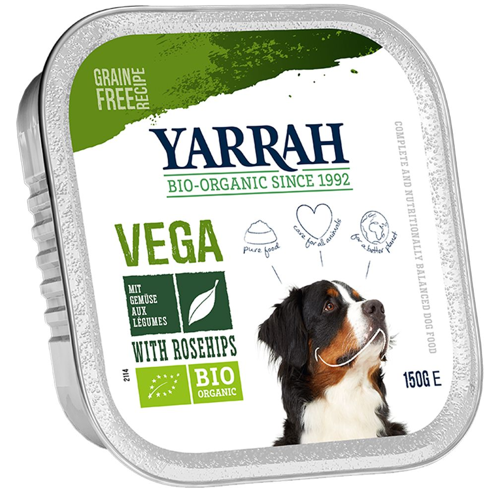Vegetarian Chunks with Rosehip Yarrah Organic Wet Dog Food