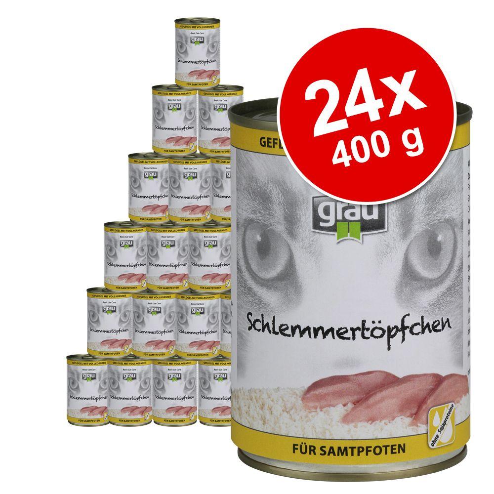 Sparpaket Grau Schlemmertöpfchen Vollkorn 24 x ...