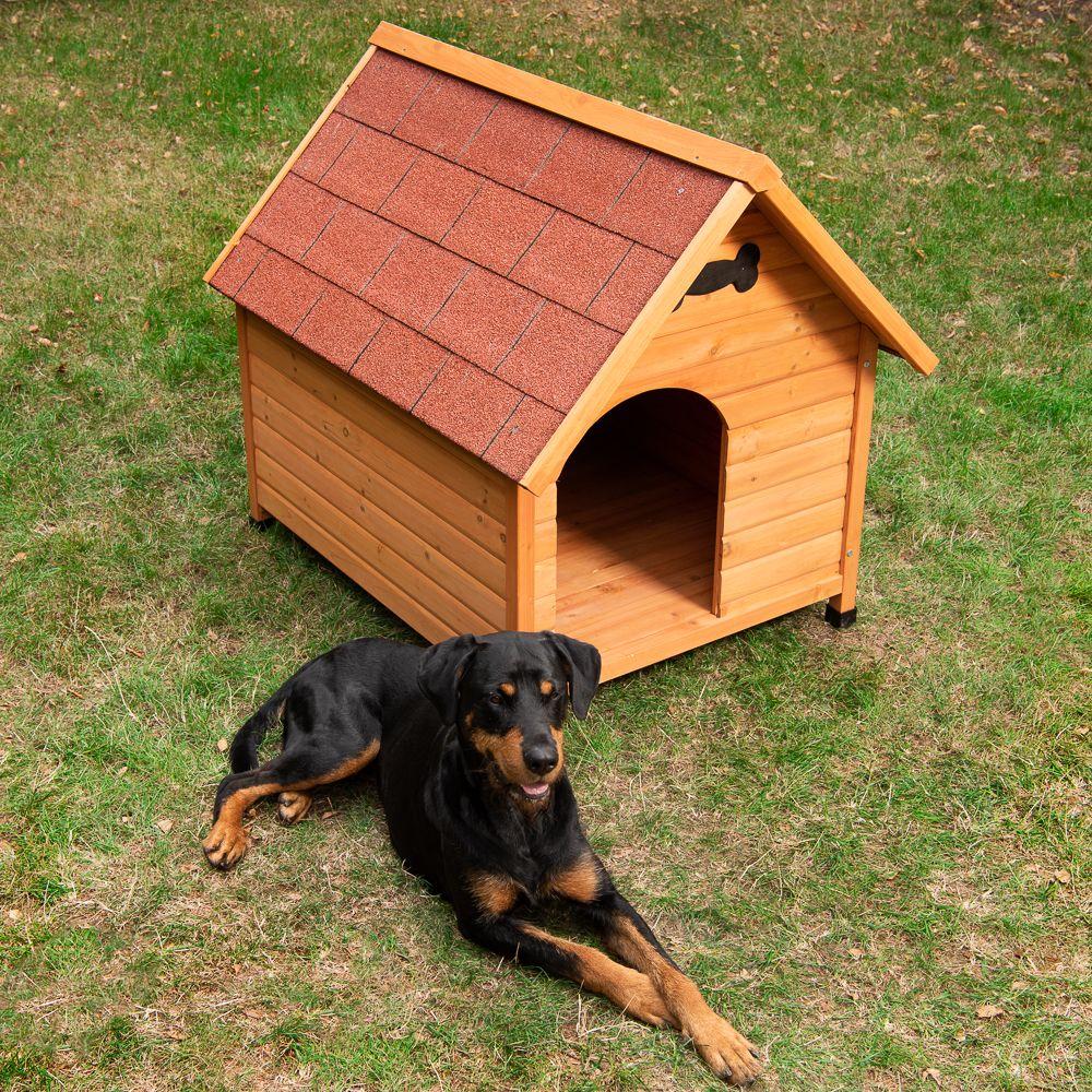 Hundehütte Spike Classic - Größe M: B 65 x T 88 x H 76 cm