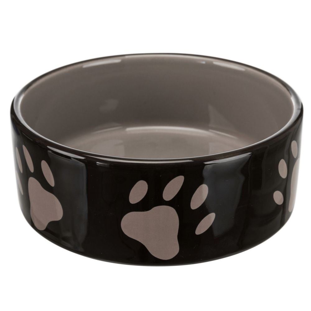 Trixie Ceramic Dog Bowl with Paw Prints - 1.4l