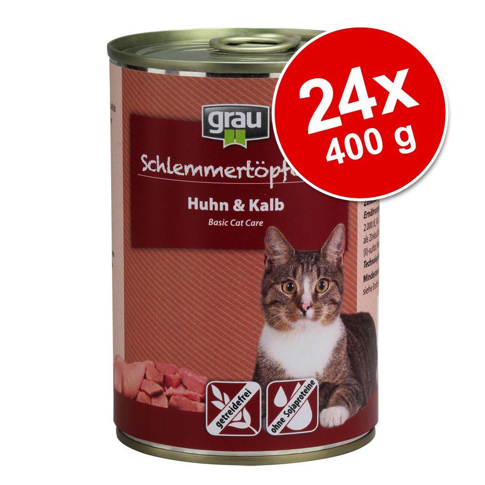 Ekonomipack: Grau Gourmet spannmålsfritt 24 x 400 g - Kyckling & kalv