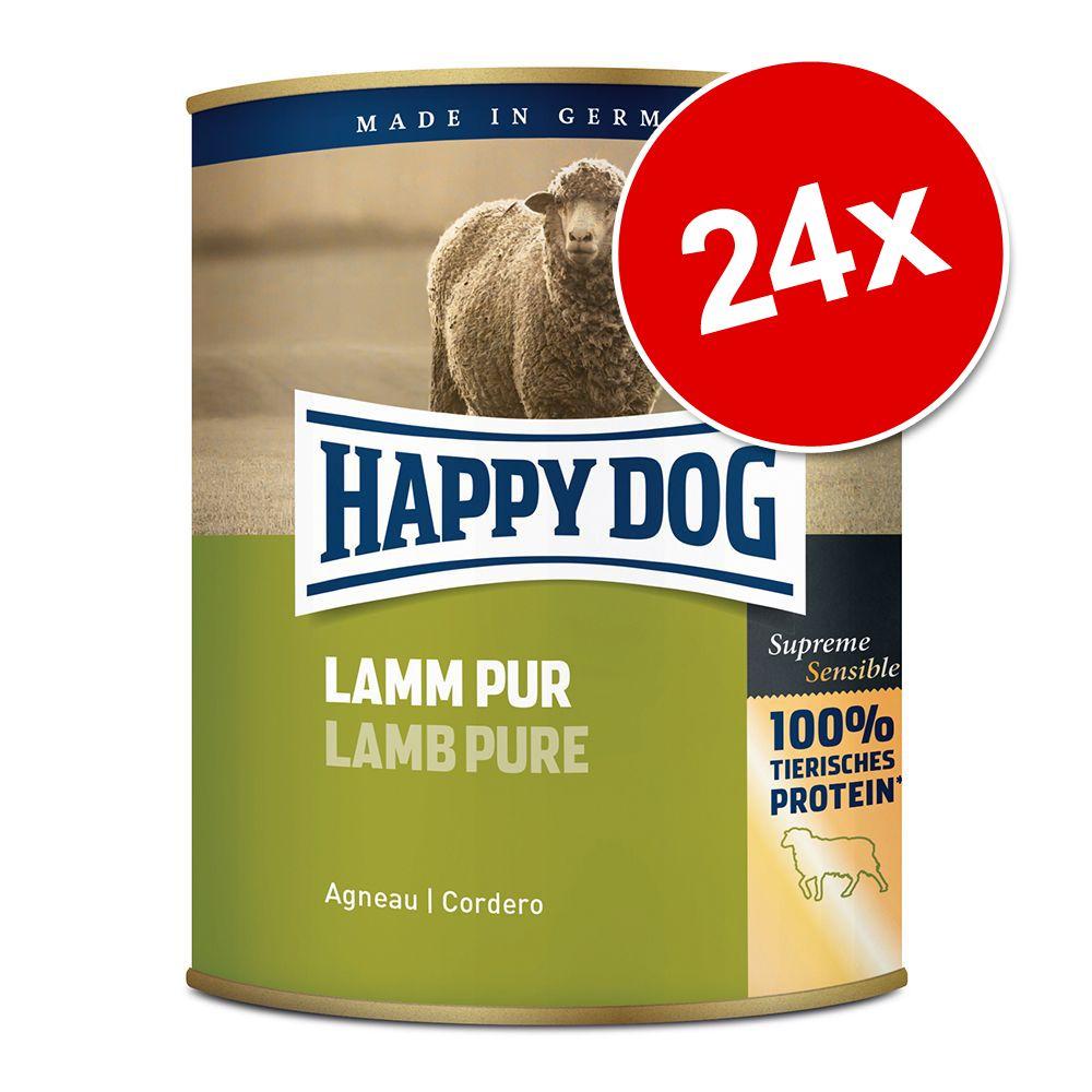 Ekonomipack: Happy Dog pure 24 x 800 g - Kalkon