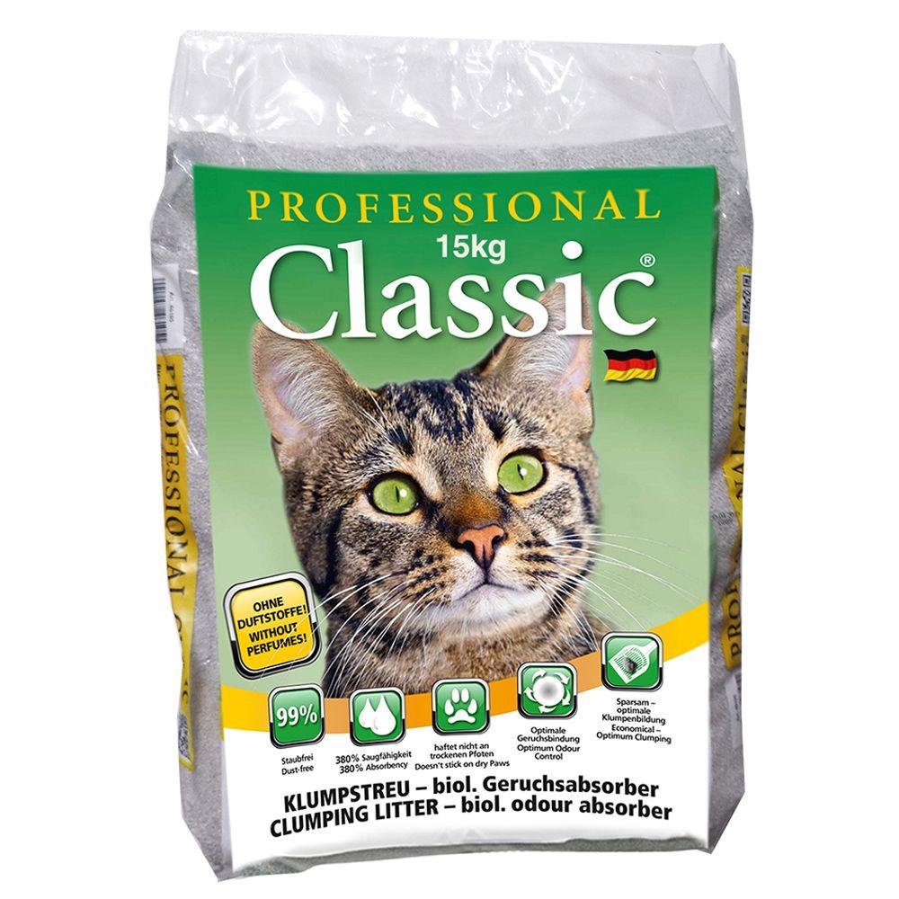 Professional Classic kattsand med luktabsorberare - 15 kg