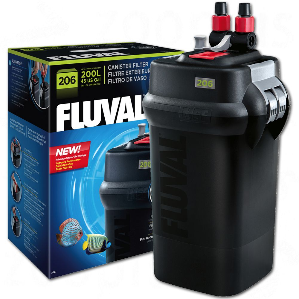 Fluval filtr zewnętrzny kubełkowy, z serii 6 - 206, do 200 litrów