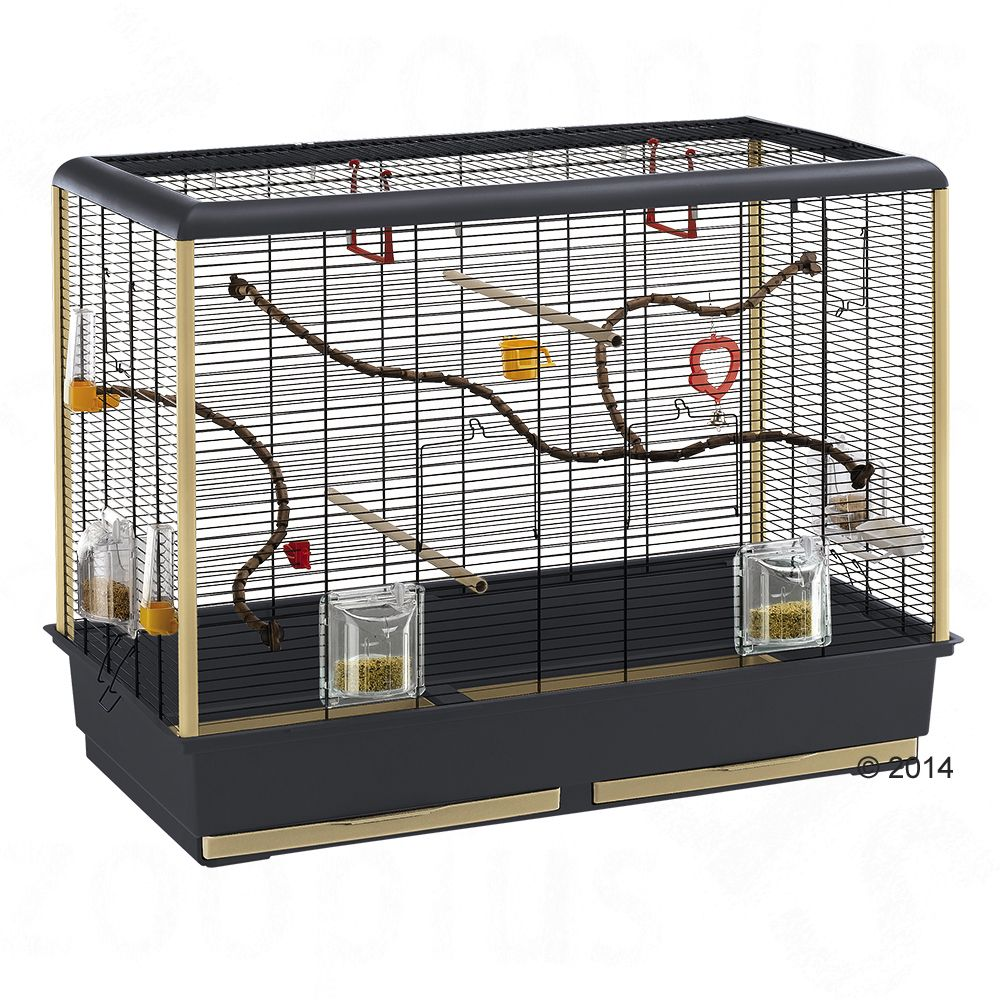 Cage pour perruche Piano 6 - L 87 x l 46,5 x H 70 cm