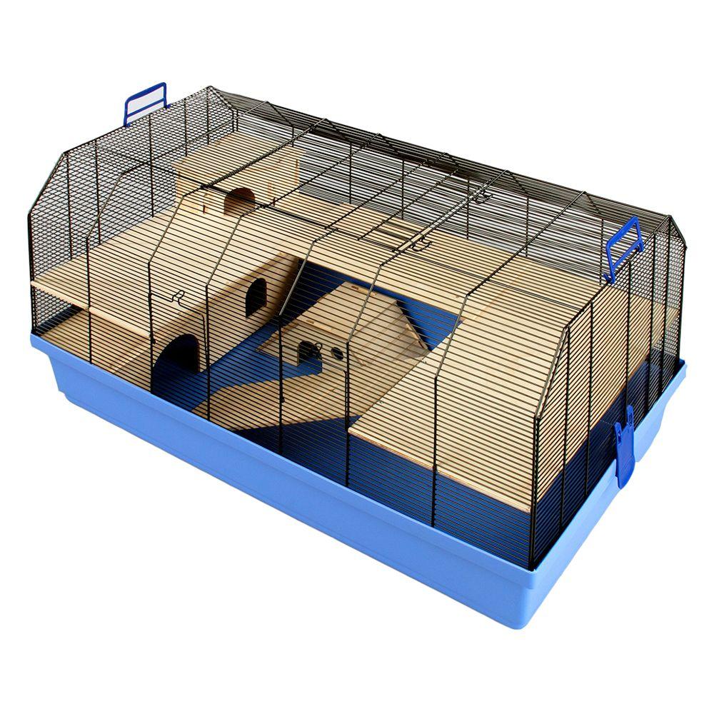 Alexander Small Pet Cage - Blue: 101 x 52.5 x 51 cm (L x W x H)