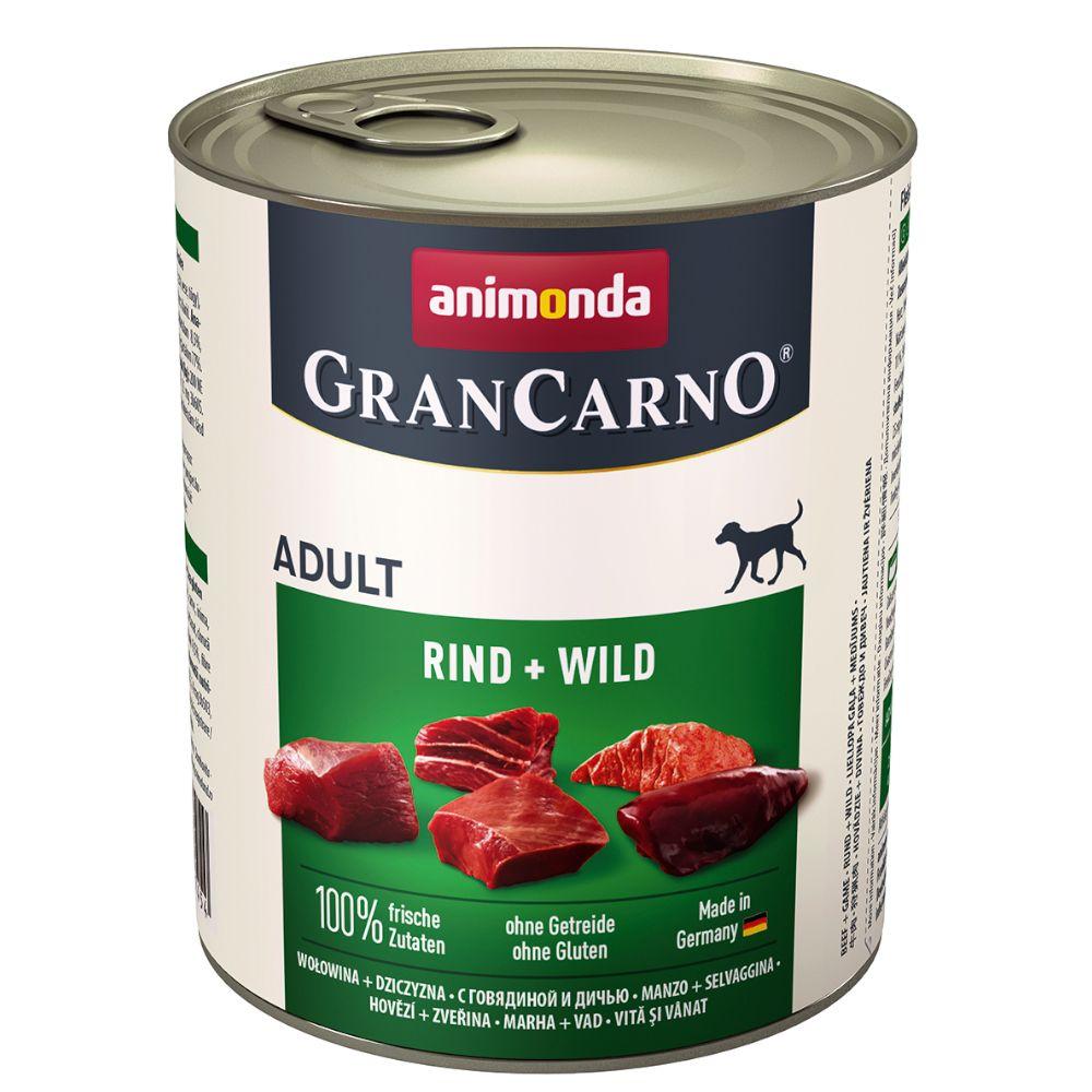 Animonda GranCarno Original Adult 6 x 800 g - Exklusive Edition Mixpack (3 Sorten)