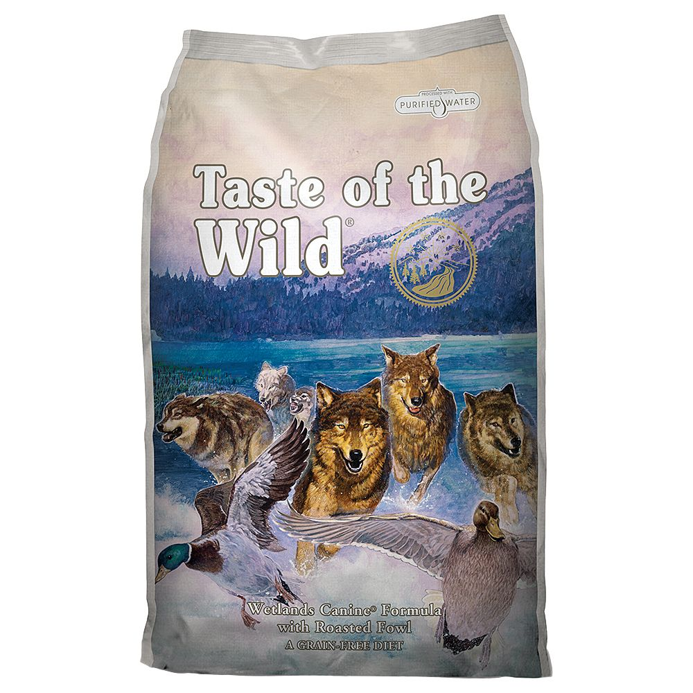 13kg Taste of the Wild Dry Dog Food + 2kg Extra Free
