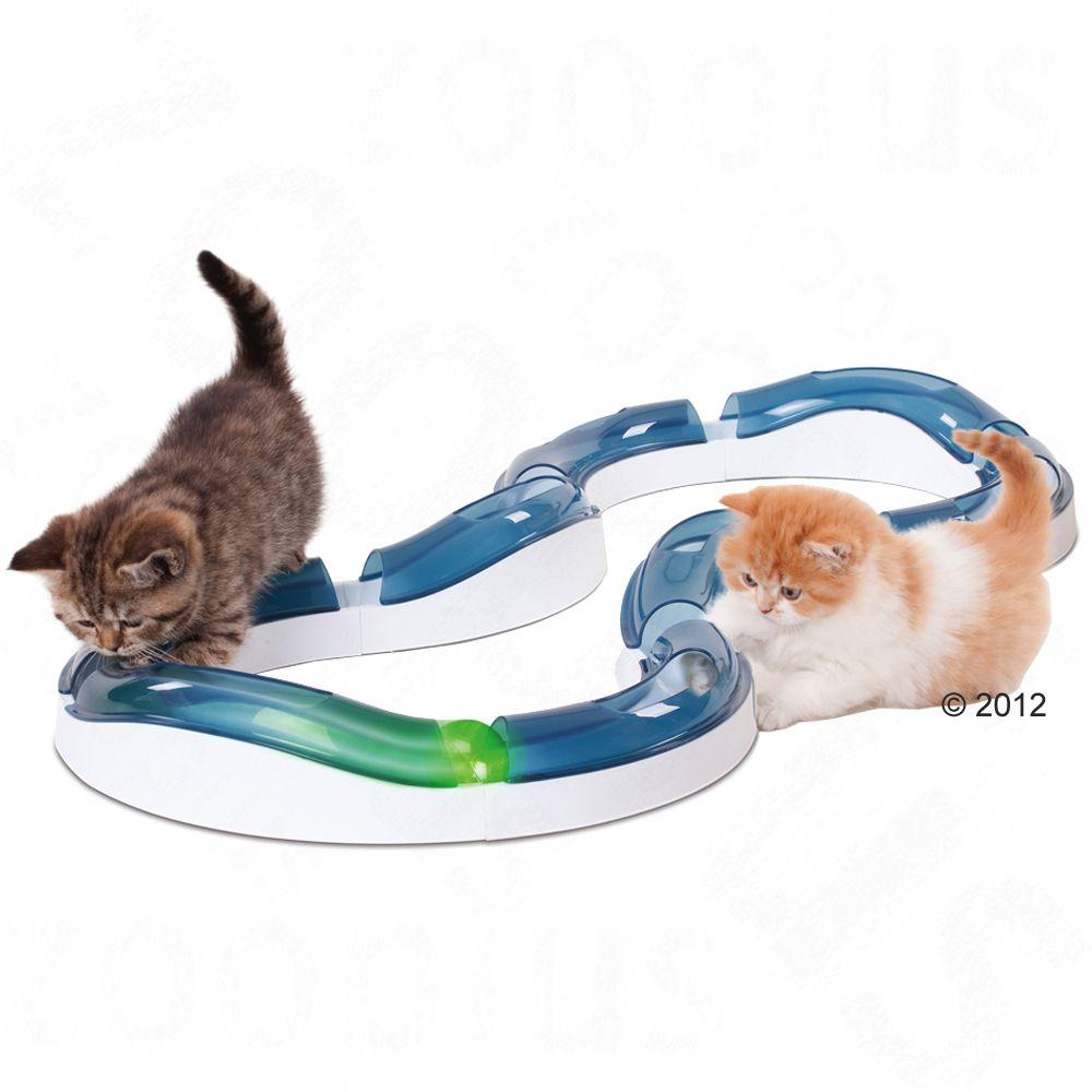 Catit Design Senses Super-Roller-Spielschiene - Beleuchtete Ersatzbälle 2 Stück