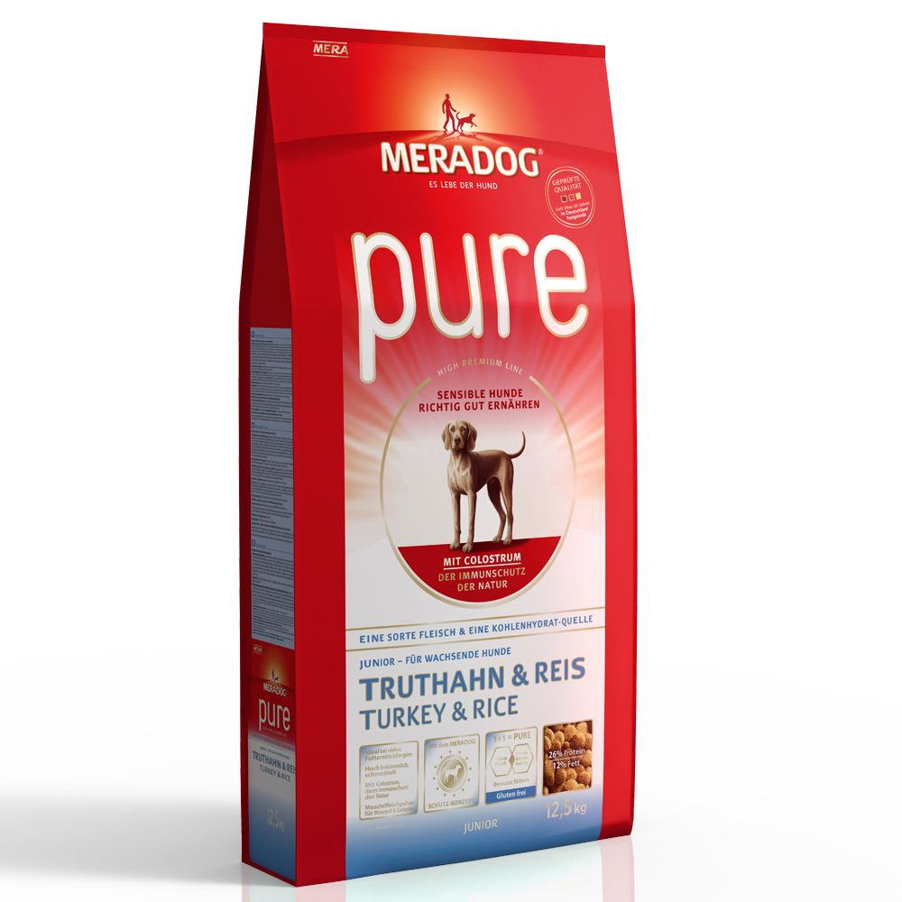 Mera Dog pure Junior Turkey & Rice - 12.5kg