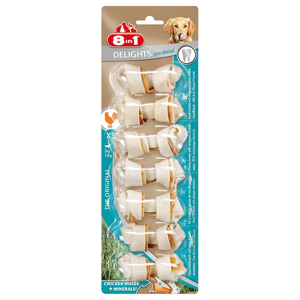 8in1 Delights Pro Dental Kauknochen Huhn - L
