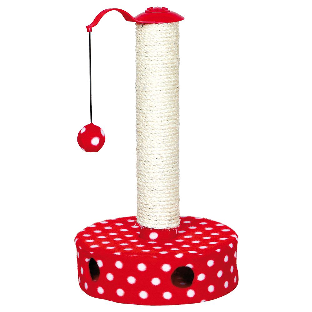 Trixie Cat Scratch Pole with Rubber band and 2 Toy Balls