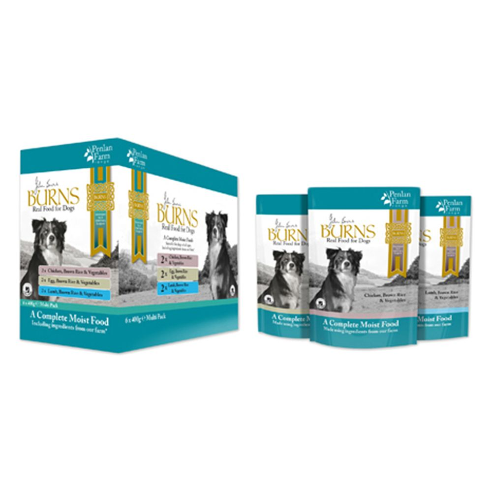 Burns Penlan Farm Mixed Pack Pouches Wet Dog Food