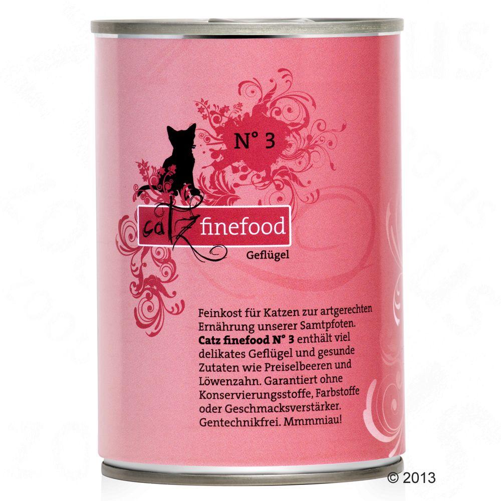 Catz Finefood w puszce, 6 x 400 g - Łosoś z drobiem
