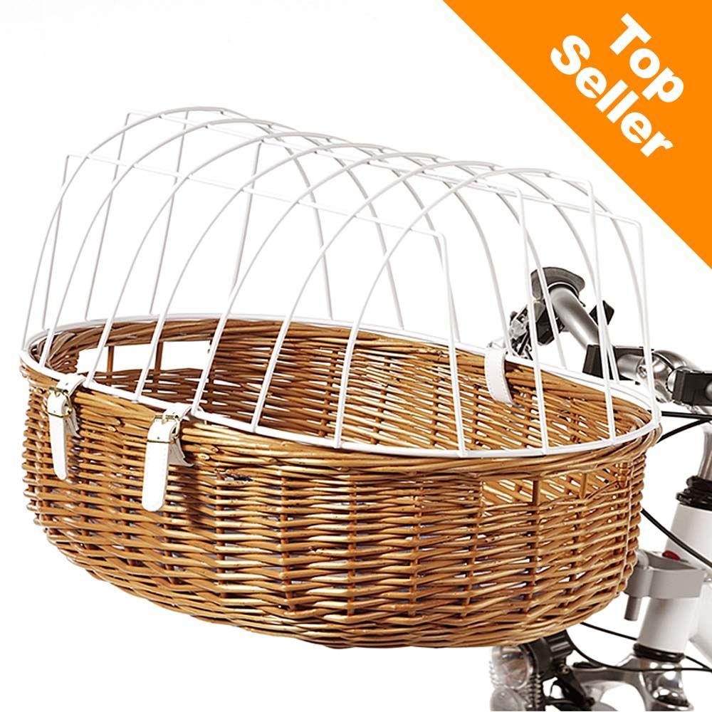 Aumüller Hunde-Fahrradkorb mit Schutzgitter - Maxi: ca. L 70 x B 46 x H 40 cm