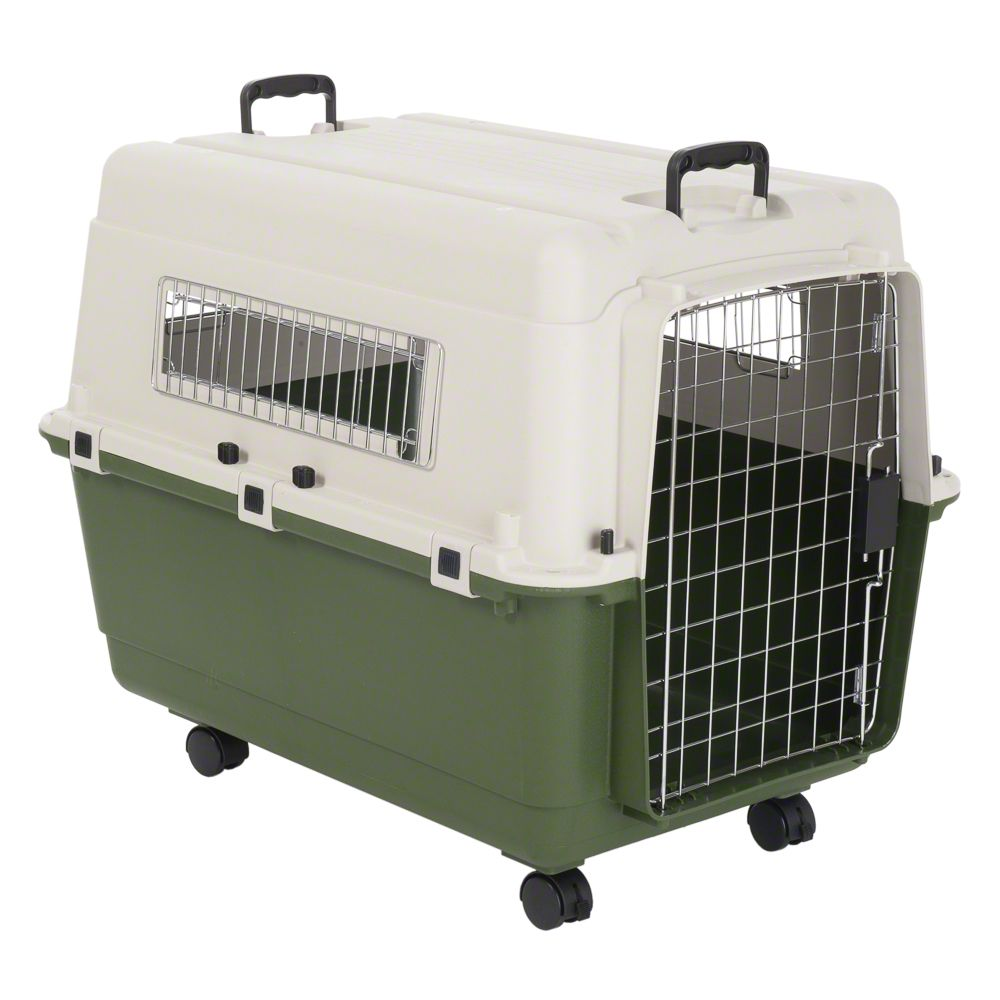Transportbox Feria XL + Vetbed® Isobed SL Hundedecke Paw