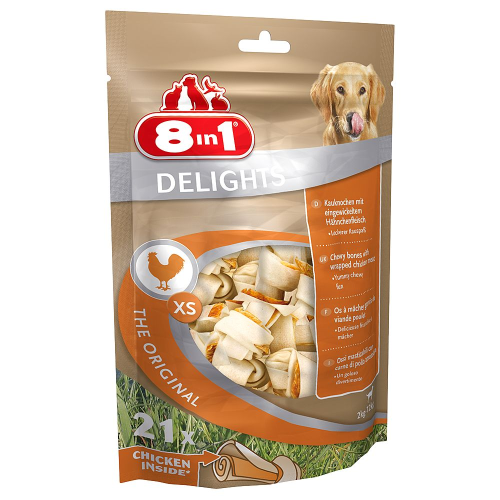 8in1 Delights Bones - Saver Pack: 3 x XS