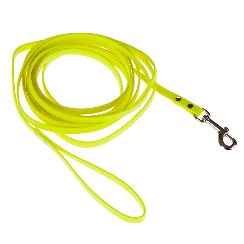 Heim Biothane Long Dog Lead Fluorescent Yellow 10m