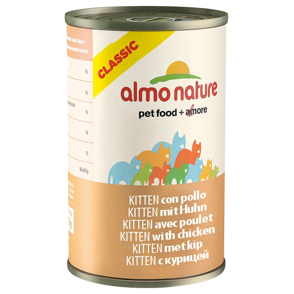 Almo Nature Classic Kitten - Chicken - Saver Pack: 12 x 140g