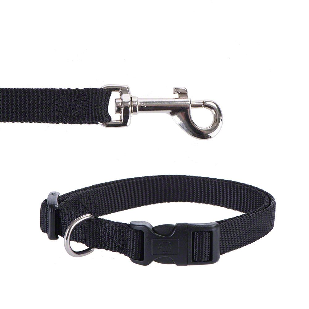 Hunter Vario Basic Ecco Sport Dog Collar - Black - Size XS