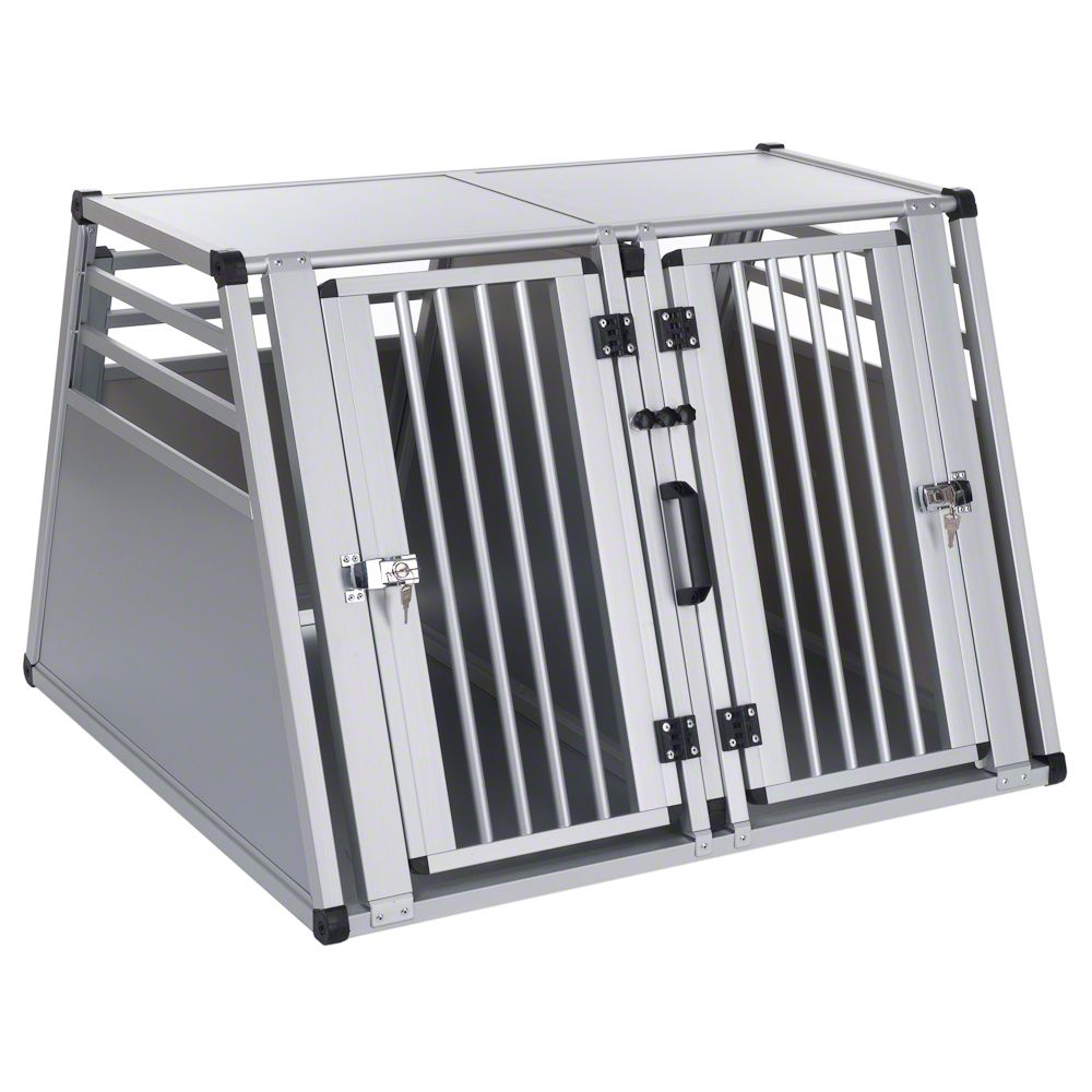 The Aluline Double Dog Crate is an aluminium plastic composite transport box in XXL size. It is a safe and comfortable way to transport larger dogs when travelling...