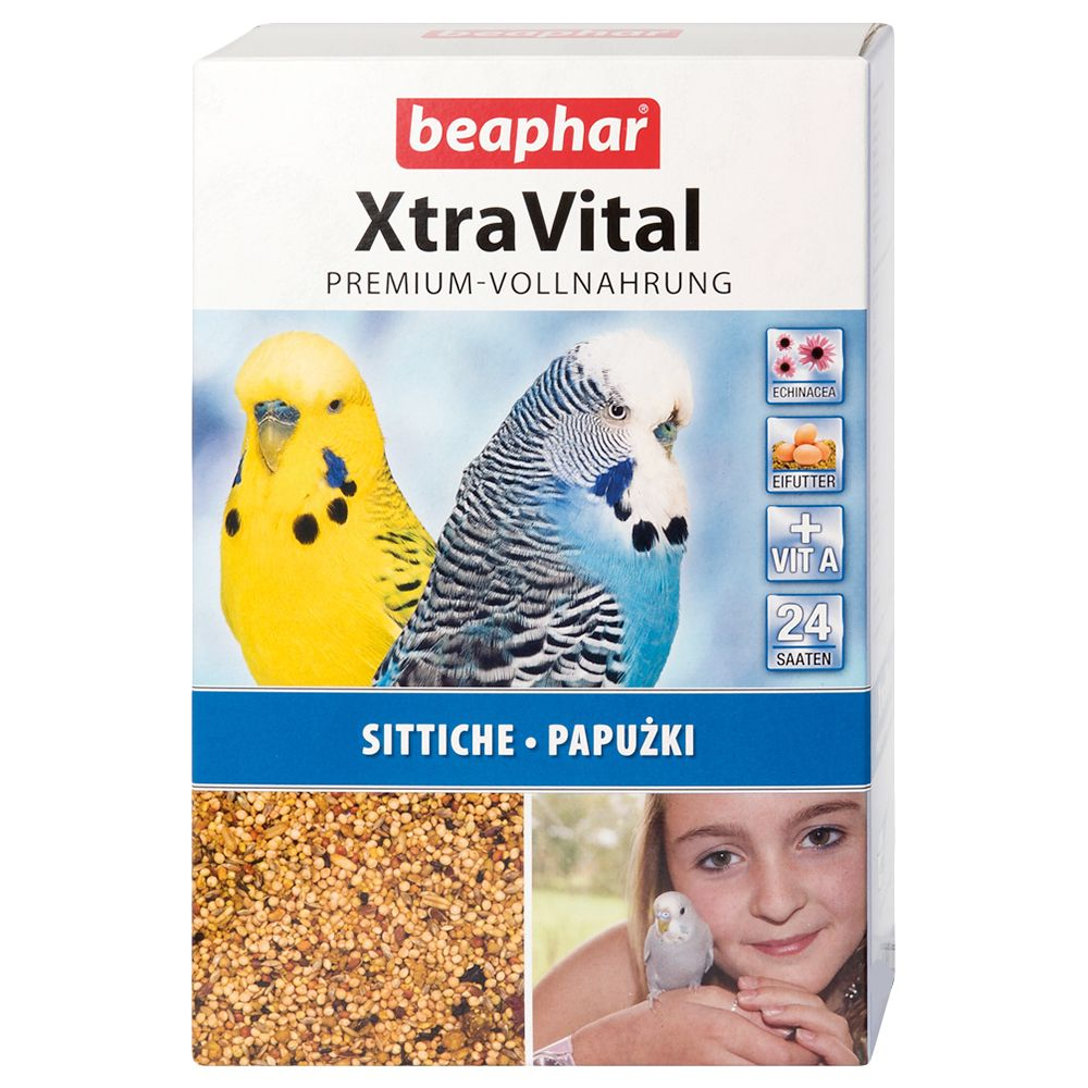 beaphar XtraVital Budgie Food - Economy Pack: 2 x 1kg