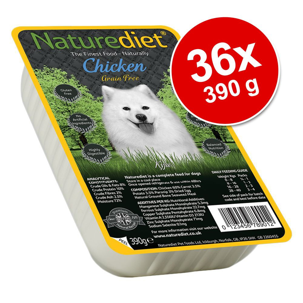 Ekonomipack: 36 x 390 g Naturediet Grain Free Wet Dog Food – Lamb
