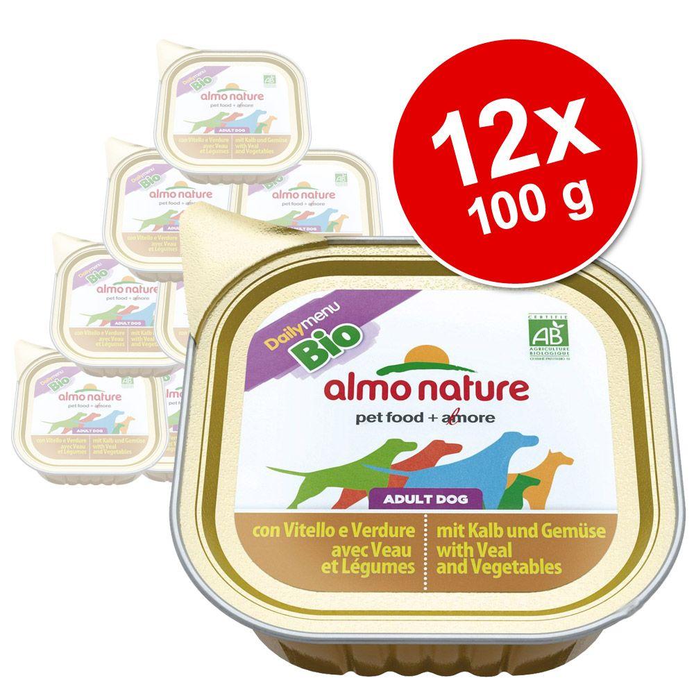 Almo Nature Daily Menu Bio Paté 12 x 100 g – Kalv & grönsaker