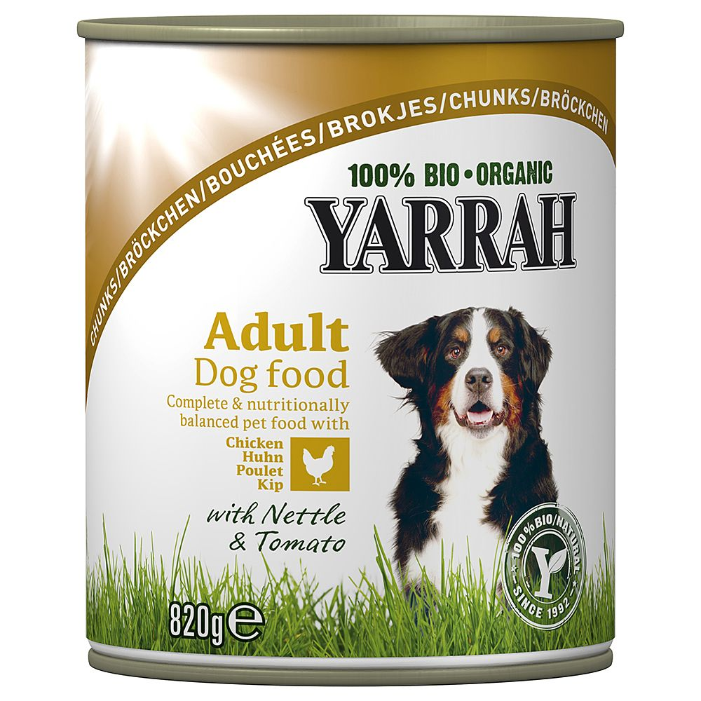 Yarrah Organic Chicken Chunks with Nettle & Tomato in Sauce - 6 x 405g