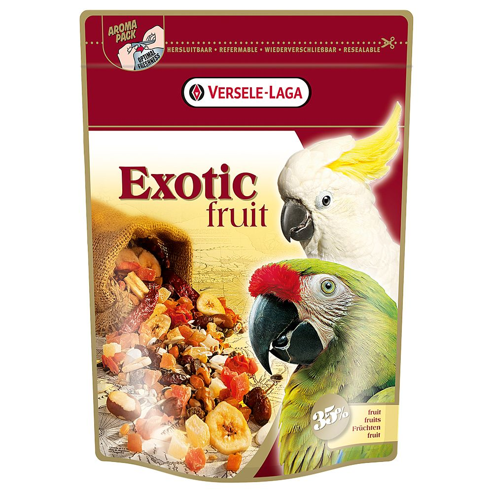 2x600g Exotic Fruit Mix Parrot Food