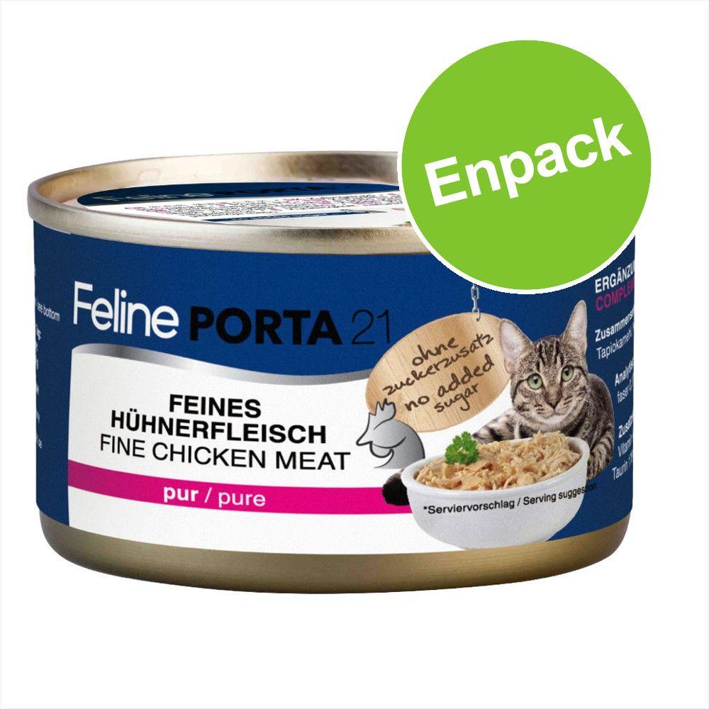 Feline Porta 21 kattfoder 1 x 90 g - Tonfisk med nötkött - spannmålsfritt