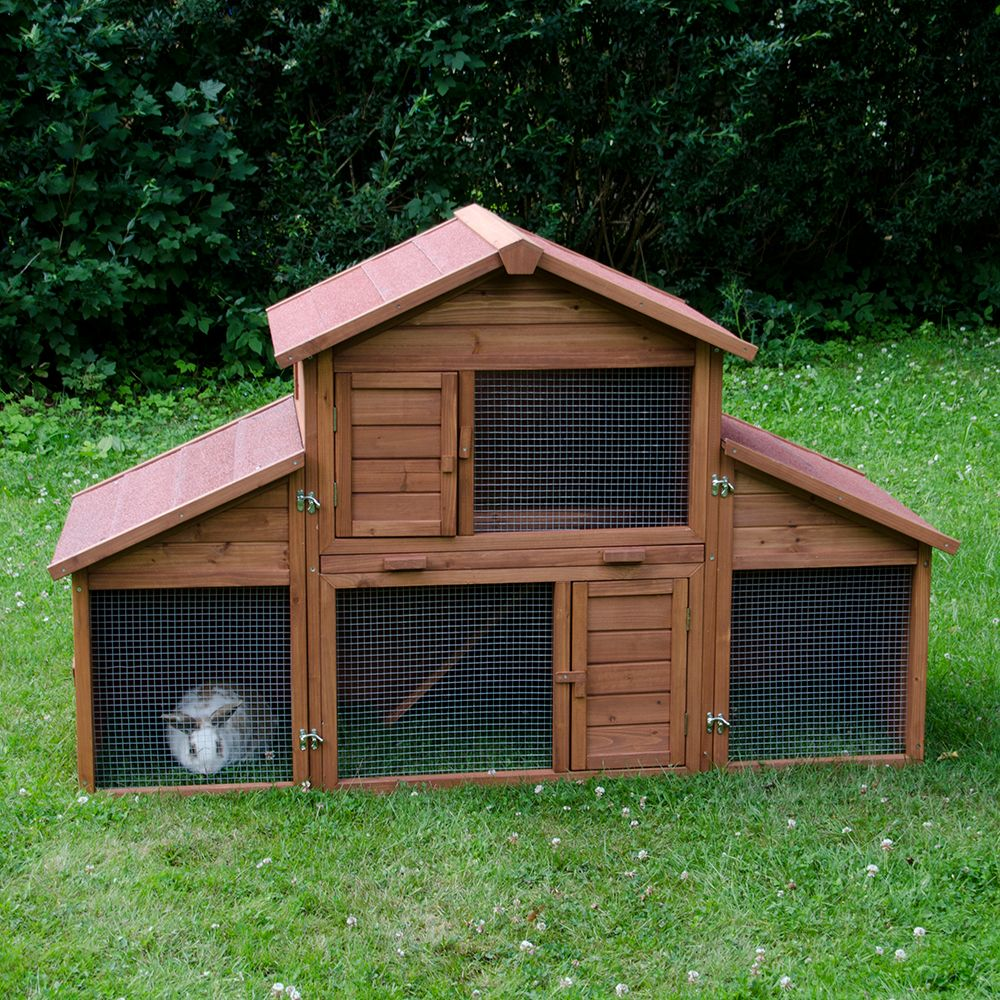 The Outback Rabbit Hutch Castle features a large run that can be individually adapted and extended with the detachable sides. Doors at the front, a drawer bottom t...