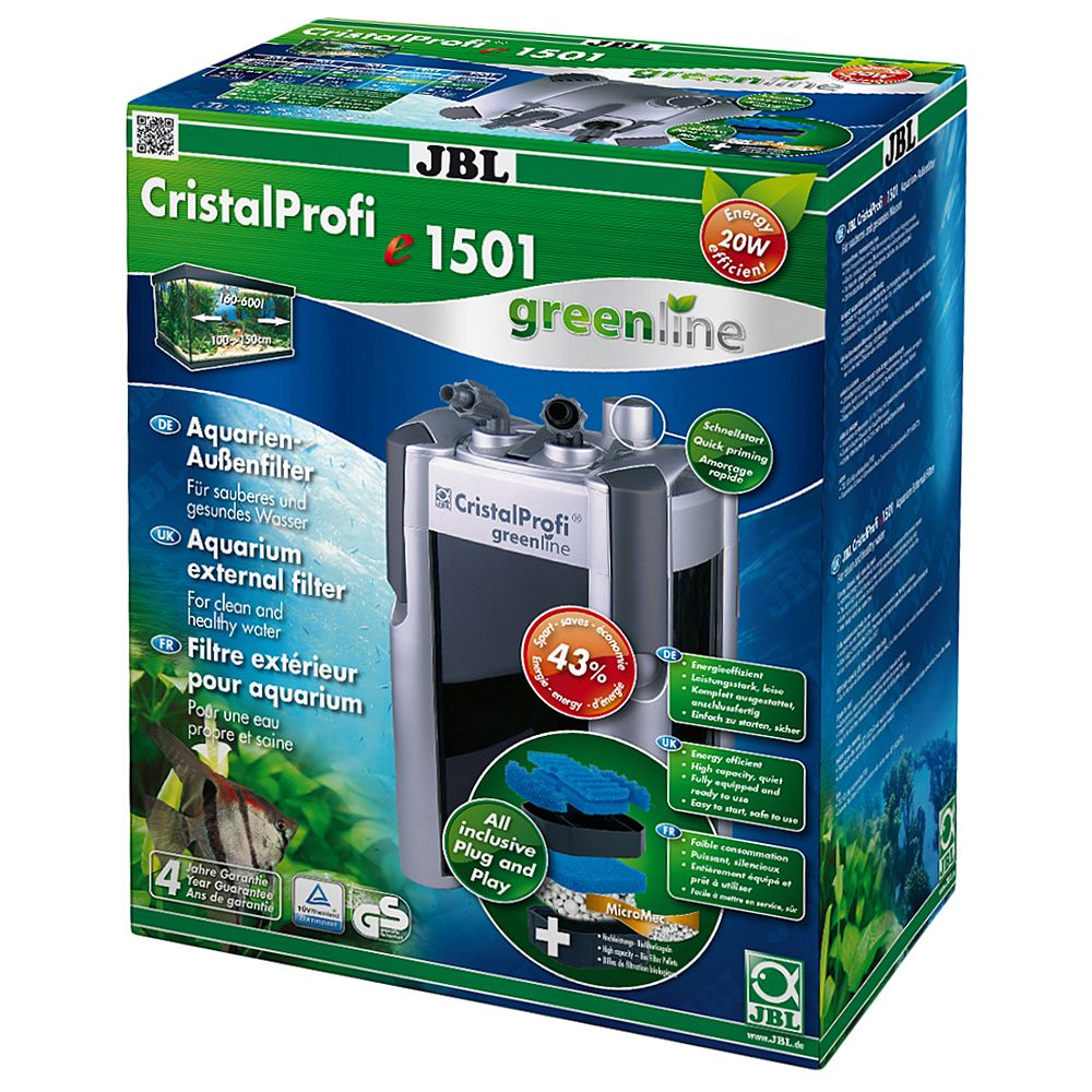 JBL CristalProfi Greenline External Filter - e1501, up to 600 L