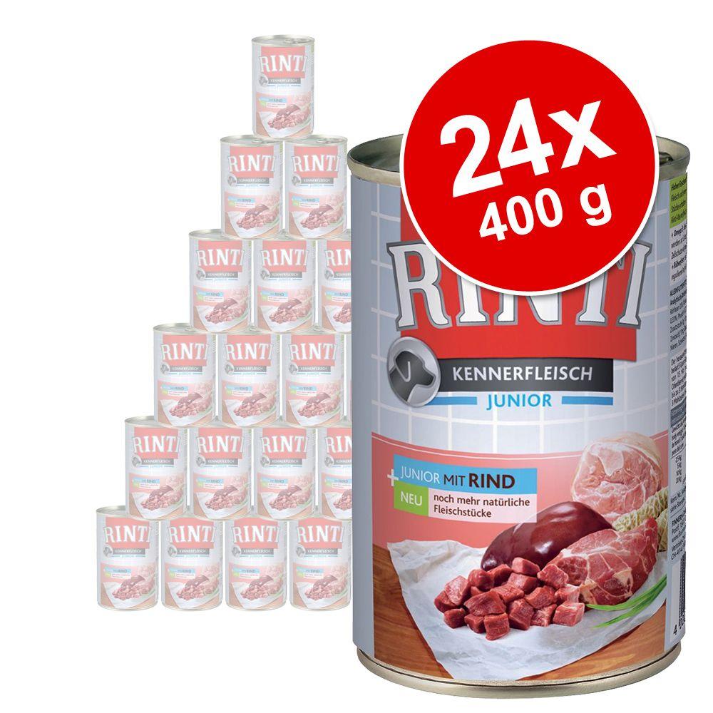 Megapakiet Rinti Pur Junior, 24 x 400 g - Kurczak