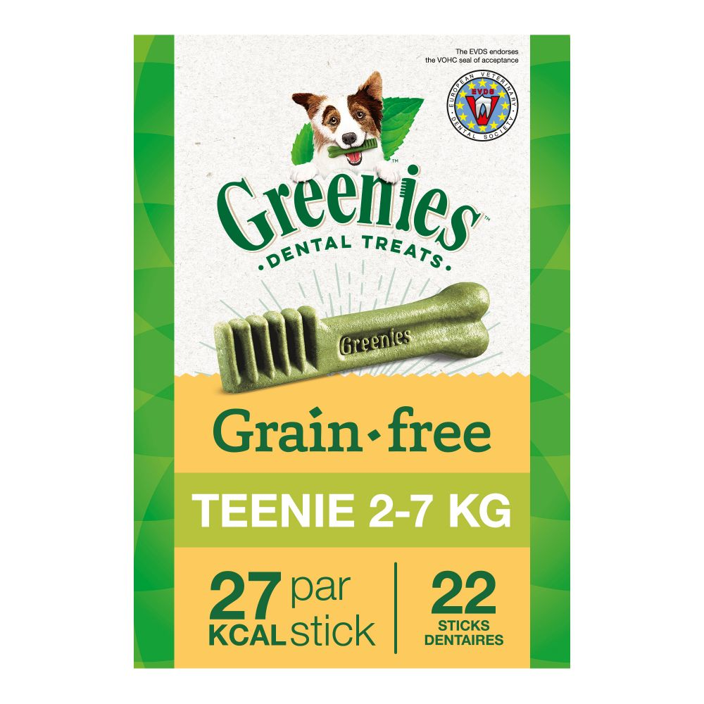 Greenies Teenie sans céréales x22 - Friandises pour chien